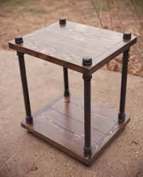 images zinc table top: industrial solid wood nightstand industrial end table industrial side table industrial bedside table