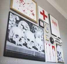halloween gallery wall decor hallowen walljpg  images about diy halloween decor on pinterest halloween spooky halloween and halloween decorations