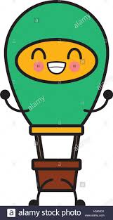 <b>hot air</b> balloon <b>kawaii cartoon</b> Stock Vector Art & Illustration, Vector ...