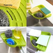 Hu Triangle Shelf Sink Dish <b>Drain</b> Rack <b>Bathroom Soap</b> Sponge ...