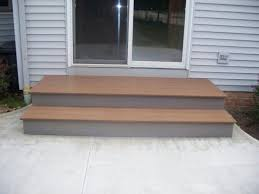 patio steps pea size x: patio step idea like the larger first step out the door