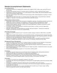 job accomplishments sample tk job accomplishments sample