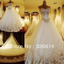 2013 <b>High Quality Luxury</b> Crystal Wedding Dress Princess Strapless ...