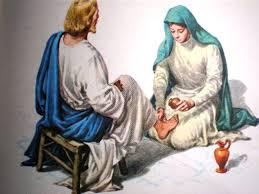 Image result for a mulher lavando os pés de Jesus