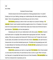 am example personal essay room  example personal essay