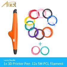 <b>Anet</b> 3D Pen DIY drawing pen with USB cable <b>Low temperature</b> 3D ...