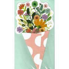 <b>Big Flower</b> Bouquet Card <b>Pink</b> Dots