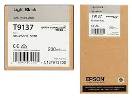 <b>Epson T9137</b> Ink Cartridge, <b>Light</b> Black 200ml, Rs.4250 – LT Online ...