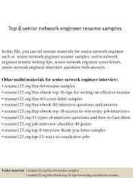 top  senior network engineer resume samplestop  senior network engineer resume samples in this file  you can ref resume materials