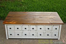 apothecary coffee table with toybox trundle ana white build diy apothecary style