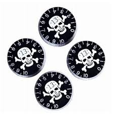 <b>Speed Control Knobs</b> With Skull Crossbones For Electric <b>Guitar</b> ...