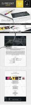 musician dj press kit resume indesign template press kit musician dj press kit resume indesign template indesign indd elegant a4