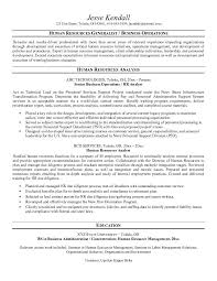 free human resources analyst resume example hr analyst resume
