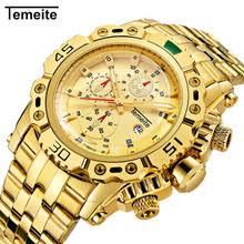 Роскошные золотые <b>мужские</b> наручные <b>часы</b> Кварцевые ...