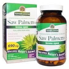 Nature's Answer, <b>Saw Palmetto</b>, <b>Full Spectrum</b> Herb, 690 mg, 120 ...