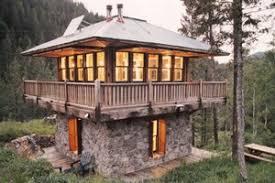 Unusual  amp  Unique House Plans   Houseplans comSignature tower cabin plan