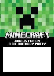 th birthday ideas minecraft birthday invitation template click here to the invitation