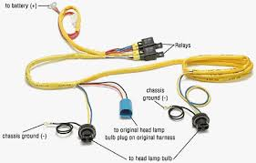 brighter head lights pictured above is a 9004 style switched power harness but its very similar to the h4 harness i used the blue connector looks like the back of a headlight