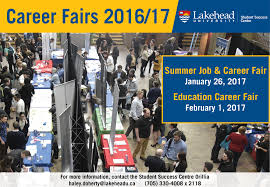 career fairs lakehead university orillia career events postcard