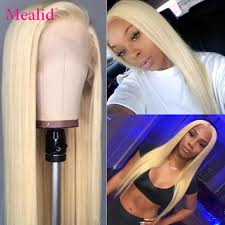 Mealid 13x6 <b>613 Honey Blonde Lace</b> Front Wigs With Baby Hair ...
