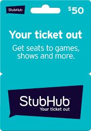 StubHub $50 Gift Card StubHub 50 - Best Buy