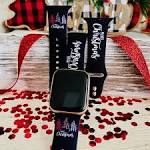 Merry <b>Christmas</b> Print <b>Silicone Band</b> For Apple Watch – Fancy <b>Bands</b>