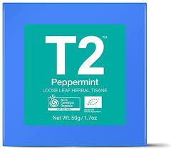 T2 <b>Tea Organic Peppermint</b> Herbal <b>Tea</b> Tisane, Loose Leaf Herbal ...