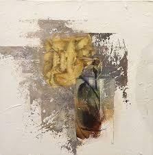 Allan Madsen Still Life Painting with <b>Yellow Rose</b>
