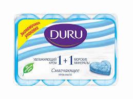 Мыло туалетное <b>Duru</b> 1+1 <b>крем</b>+морские минералы ... - купить с ...