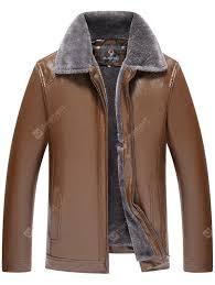 Middle-aged <b>Men's PU</b> Leather <b>Jacket</b> Coat | Gearbest