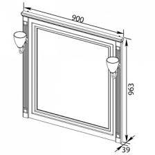 <b>Зеркало Aquanet Паола</b> 90 черное патина серебро - San-Room