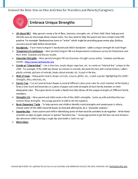 connect the dots child care health consultation see negative behaviors as emerging character strengths · powerful reflection activity for teachers 5 questions
