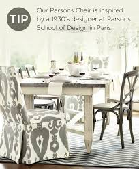 dining table parson chairs interior: parsons chairs by ballard designs messina diningtable