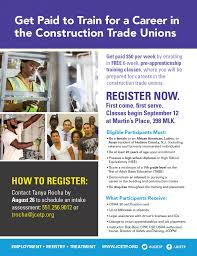 register now get paid to train for a career in the construction njbuildflyer final website