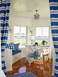 this room office looks more clean bright and charm better than another design because this home office design use color combination of blue white also brown blue brown home office