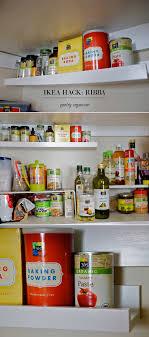 upper kitchen cabinets pbjstories screenbshotb: ikea hack ribba picture ledge into pantry organizer kitchen organization and storage