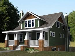 beautiful small craftsman style home plans with green wall paint color combine with red brick wall ideas also with gray roof tile beautiful paint colors home