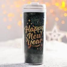 Чай чёрный «<b>Happy New Year</b>», в <b>термостакане</b>, с лимоном и ...