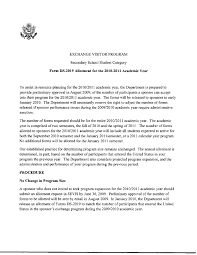 sample reference letter for student exchange program student program secondary school student program final rule guidance