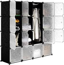 LANGRIA <b>16</b>-Cube <b>DIY</b> Wardrobe Portable Cupboard Cabinet ...