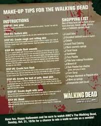 walking dead zombie makeup tips for these tips are all things that you can at your local one stop