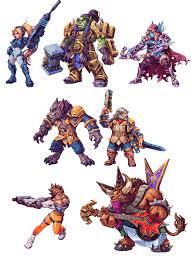 blizzard characters make awesome d sprites kotaku blizzard characters make awesome 2d sprites