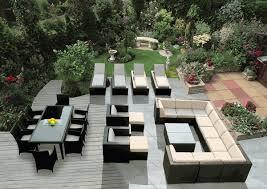 patio furniture set pc gray wicker