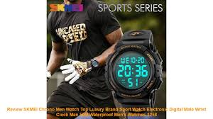 Review SKMEI <b>Chrono Men Watch Top</b> Luxury Brand Sport Watch ...