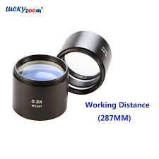 <b>Luckyzoom 0.3X Objective</b> Lens Working Distance 287MM Stereo ...