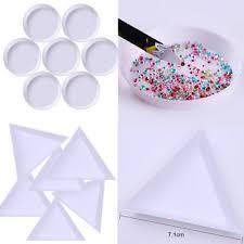 10/<b>50Pcs</b> Round Rhinestones Beads Crystal <b>Nail</b> Art Sorting Trays ...