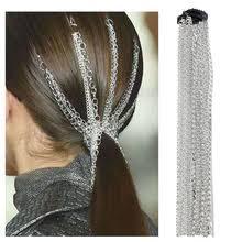 <b>Зажим для волос с</b> большой кисточкой, алюминиевая цепочка ...