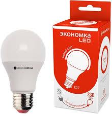 <b>Лампа</b> светодиодная <b>Экономка LED</b> A60, цоколь <b>E27</b>, 25 Вт, 4500 ...