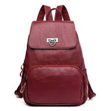 Shop Fashion Women Genuine Leather <b>Backpacks</b> For Teenage ...