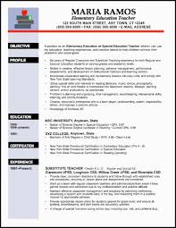 resume template example for elementary education or special education teacher with experience education in resume sample